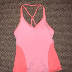 Coral two tone lululemon racerback